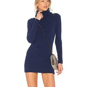 Lovers + Friends Colby Sweater Dress Tunic Navy M